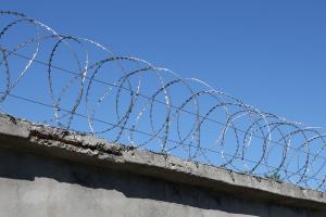 Gurza spiral barrier 400/3 on a concrete slab fence