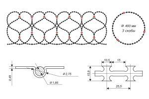 Gurza 400/3 spiral barrier drawing