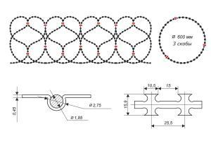 Gurza 600/3 spiral barrier drawing